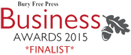 Bury Free Press Business Awards 2015 - FINALIST