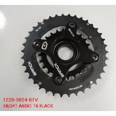 Giant Chainwheel 38/24T Alloy/Steel for 9S w/Spider, 1220-3824-01V