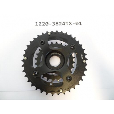 Giant Chainwheel 38/24T Alloy/Steel for 9S w/Spider, 1220-3824TX-01