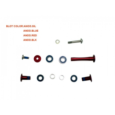 Giant  GS8343 Rock Arm Bolt Set (Trance X), Shock GS8343, Blue, 1280GS834303B1