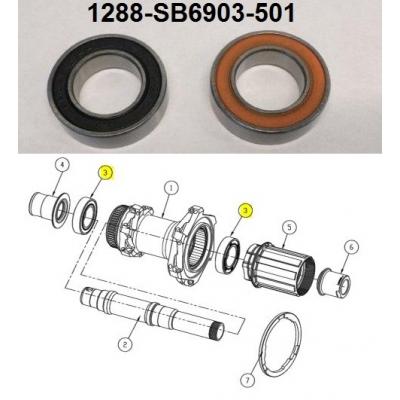 Giant SLR 1 Disc (2017) Rear Wheel Bearings, 1288-SB6903-501