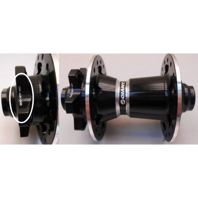 Giant S-XC2 Disc Wheel Front Hub, 1510-DC1517-502