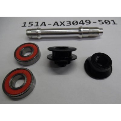 Giant Front Hub Axle Service Kit for SL1 Disc Wheel, 151A-AX3049-501
