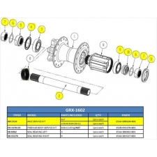Giant Rear Hub Axle Service Kit for PR-2 Disc (TCR adv...