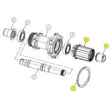 Giant Shimano 11 speed Freehub Body, 152b-FH5360-701
