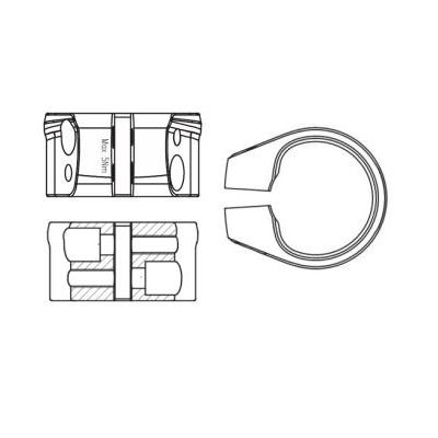 Giant D-Fuse Seat Clamp, DFSC01-501