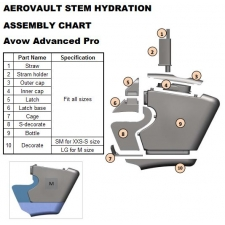 Giant Avow Advanced Pro MY17+ Aero Vault Stem Hydratio...