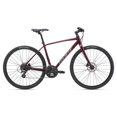 Giant Escape 2 Disc Hybrid Bike, Garnet 2021