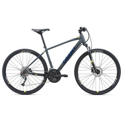 Giant Roam 2 Disc All-terrain Hybrid Bike (Grey/Yellow) 2018