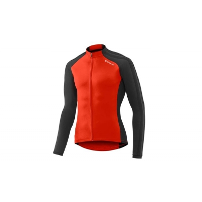 Giant Tour Thermal Long Sleeve Jersey, 2017, Red and Black