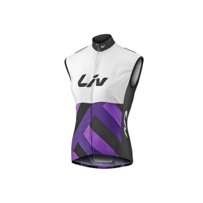 Liv Race Day Womens Gilet / Wind Vest, 2017, White and Purple