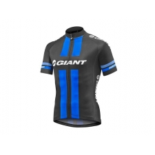 Giant Race Day Short Sleeve Jersey, 2017, Black and Bl...