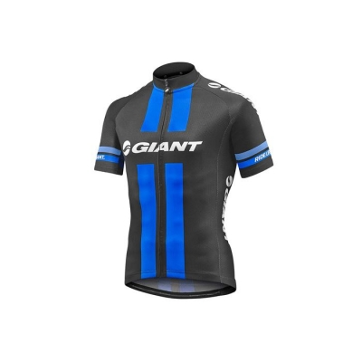 Giant Race Day Short Sleeve Jersey, 2017, Black and Blue