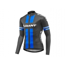 Giant Race Day Long Sleeve Jersey, 2017, Black and Blu...