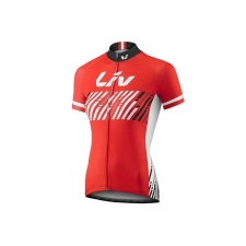 Liv Beliv Women's Short Sleeve Jersey, 2017, Red and W...