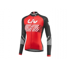 Liv Beliv Women's Long Sleeve Jersey, 2017, Red and Bl...