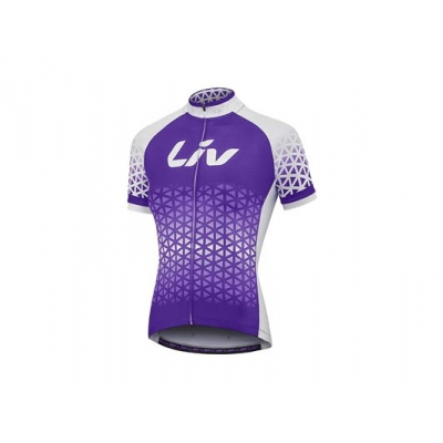 Liv 2018 Beliv Short Sleeve Jersey, Purple/White