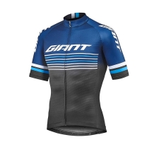 Giant Race Day Short Sleeve Jersey, 2019, Black and Na...