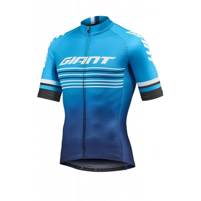 Giant Race Day Short Sleeve Jersey, 2019, Navy and Blue