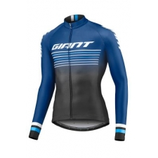 Giant Race Day Long Sleeve Jersey, 2019, Black and Navy