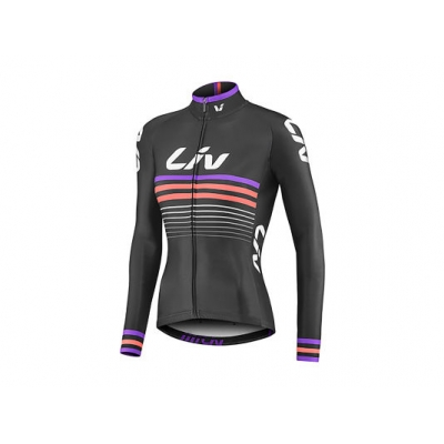 Liv Race Day Women's Long Sleeve Mid-Thermal Jersey, 2018