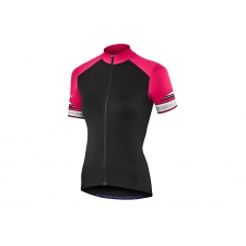 Liv Legenda Short Sleeve Jersey, Black/Virtual Pink