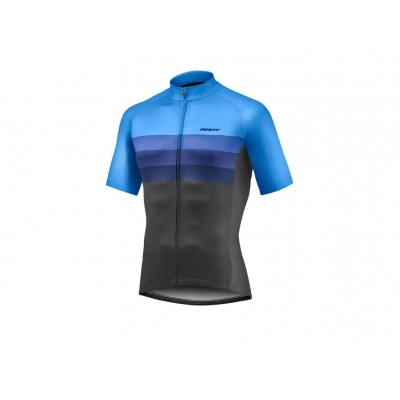 Giant Rival Short Sleeve Jersey, Blue/Black