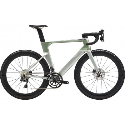 Cannondale SystemSix Ultegra Di2 Disc Aero Carbon Road Bike, Sage Grey 2020