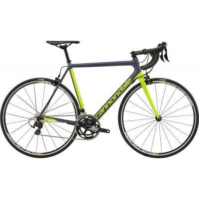 Cannondale SuperSix Evo 105 Carbon Road Bike (Gray and Yellow) 2018