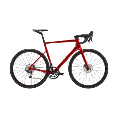 Cannondale SuperSix EVO Hi-MOD Disc Ultegra Road Bike, Candy Red 2021
