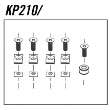 Cannondale Scalpel Cable Guide Bolt Kit x6, KP210