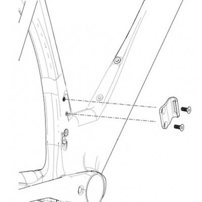 Cannondale SuperSlice Front Derailleur Mount, CK3027U00OS