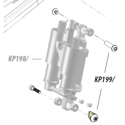 Cannondale Claymore Shock Mount Hardware, KP199