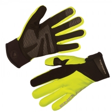 Endura Strike II Waterproof Gloves, Hi-Vis Yellow