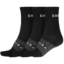 Endura Coolmax Race Socks (Triple Pack), Black