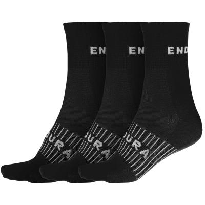 Endura Coolmax Race Socks (Triple Pack), Black