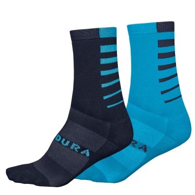 Endura Coolmax Stripe Socks (Twin Pack), Electric Blue