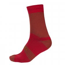 Endura Hummvee Waterproof Sock II, Rust Red