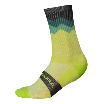 Endura Jagged Sock, Lime Green