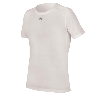 Endura Translite Short Sleeve Baselayer, White