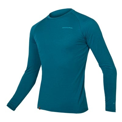 Endura BaaBaa Blend Long Sleeve Baselayer, Kingfisher