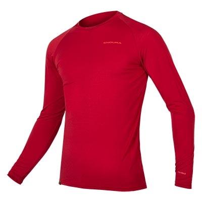 Endura BaaBaa Blend Long Sleeve Baselayer, Rust Red
