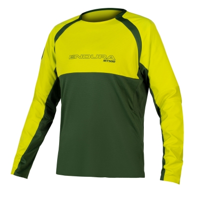 Endura MT500 Burner Long Sleeve Jersey II, Forest Green