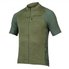 Endura GV500 Reiver Short Sleeve Jersey, Olive Green