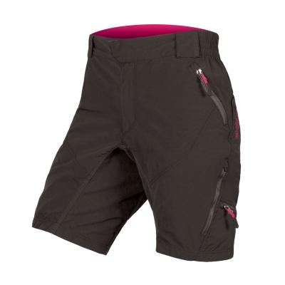 Endura Women's Hummvee II Baggy Shorts (with liner short), Black