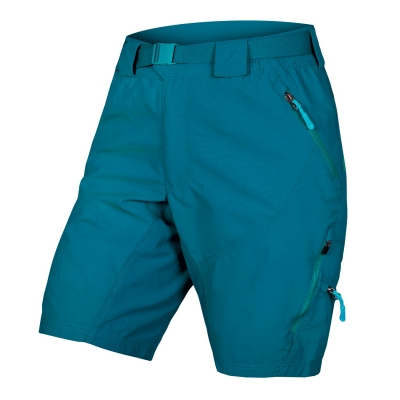 Endura Women's Hummvee II Baggy Shorts (with liner short), Kingfisher Green