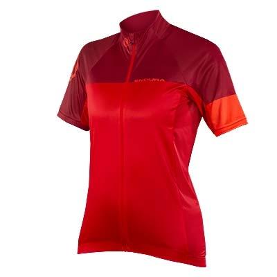 Endura Women's Hyperon Short Sleeve Jersey II, Red