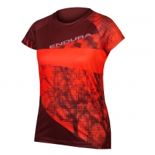 Endura Women's SingleTrack Dots T LTD, Coral