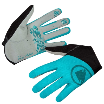 Endura Women's Hummvee Lite Icon Gloves, LTD, Pacific Blue