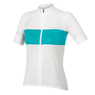 Endura Women's FS-260 Pro Short Sleeve Jersey, White